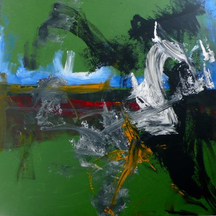 Wave of confusion  acrylic on canvas  90x90 cms