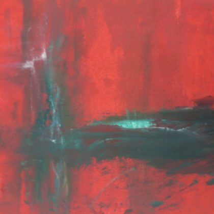 Red abstraction - acrylic on paper 41x51 cms