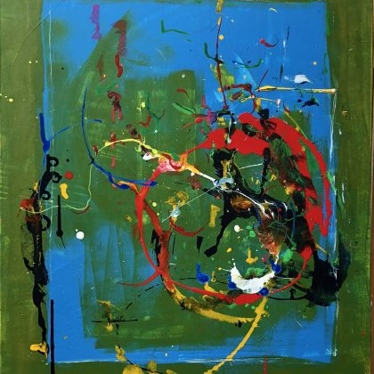 Confused acrylic on canvas 54x65 cms